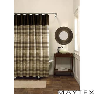 brown and white shower curtain. Maytex Blake Fabric Shower Curtain Tan Curtains For Less  Overstock com Vibrant Bath