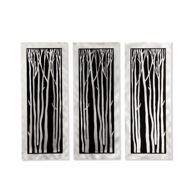 Jon Gilmore Silver Birch 3 Piece Wall Sculpture Free