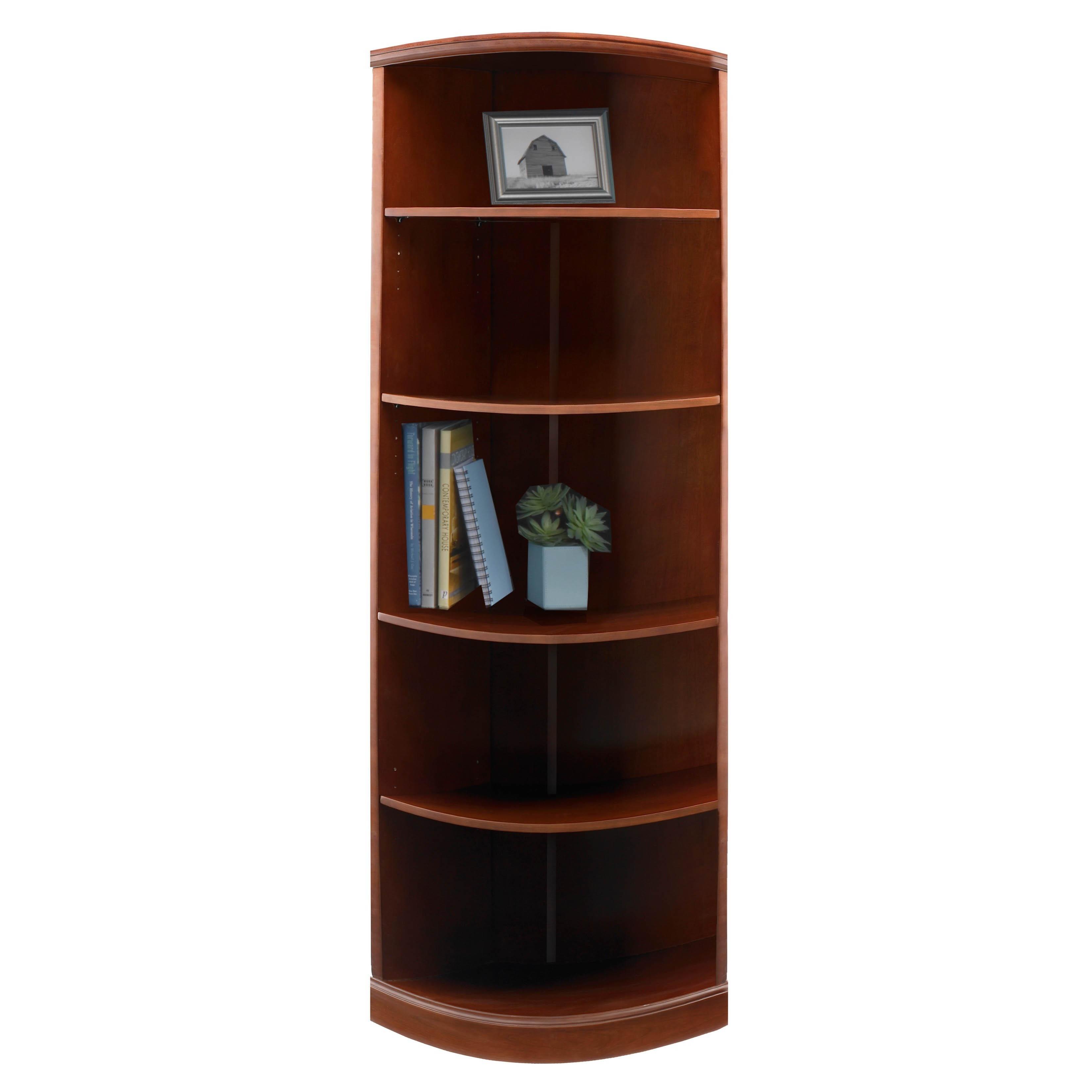 Mayline Sorrento 5-shelf Quarter-round Bookcase (Bourbon ...