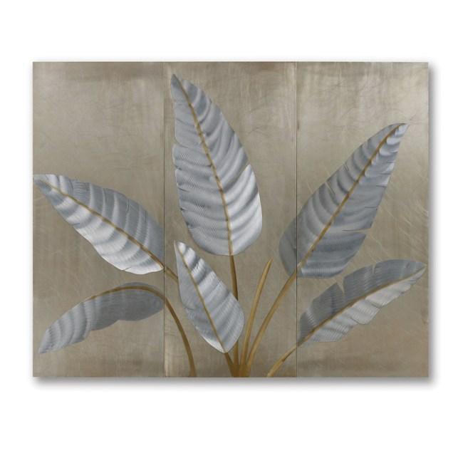 Jon Gilmore 'Metallic Leaves' Wall Sculpture