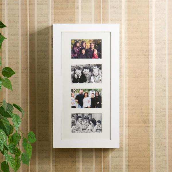 Harper Blvd Alto Photo Display Wall-mount White Jewelry Armoire