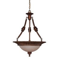 Belvedere 3-light Crackle Bullion Hanging Pendant