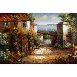 'Italian Vista' Hand Painted Canvas Art