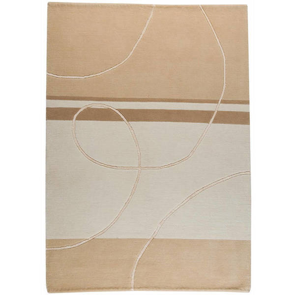 M.A.Trading Hand-knotted Indo-tibetan Flow White Wool Rug (6'6 x 9'9)