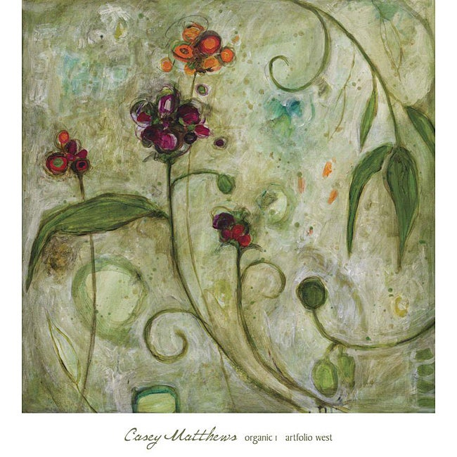 Casey Matthews 'Organic 1' Gallery Wrapped Canvas