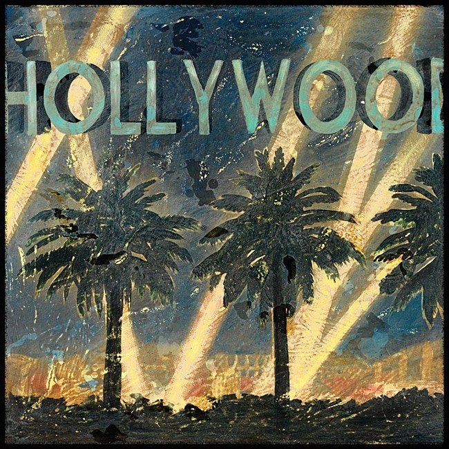 Aaron Christensen 'Hollywood Night' Gallery-wrapped Canvas