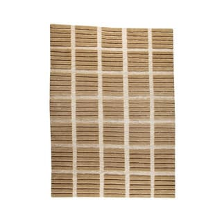M.A.Trading Hand-knotted Piano Beige Wool Rug (5'6 x 7'10)