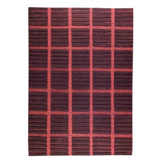 M.A.Trading Hand-knotted Piano Brown Wool Rug (5'6 x 7'10)