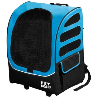 Pet Gear I-GO2 Traveler Plus Pet Backpack and Carrier with Wheels (Option: Ocean Blue)