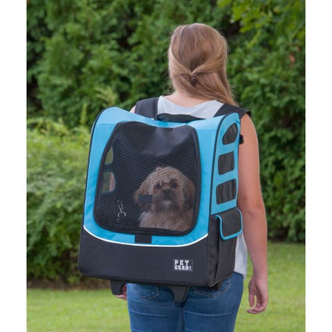 Pet Gear I-GO2 Traveler Plus Pet Backpack and Carrier with Wheels