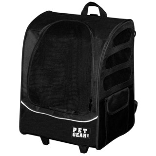 Pet Gear I-GO2 Traveler Plus Pet Backpack and Carrier with Wheels (Option: Black)