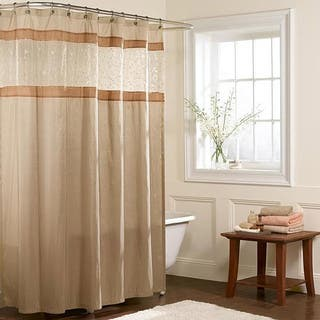 Maytex Embroidered Panel Fabric Shower Curtain|https://ak1.ostkcdn.com/images/products/5612020/P13372595.jpg?impolicy=medium