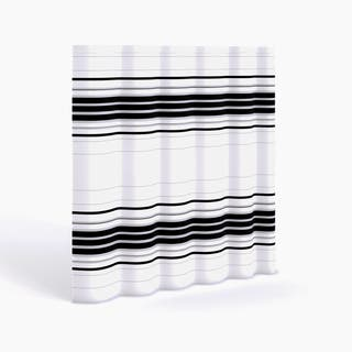 black and white striped shower curtain. Porch  Den Wheeler Genoa Horizontal Stripe Fabric Shower Curtain Curtains Shop The Best Deals for Dec 2017