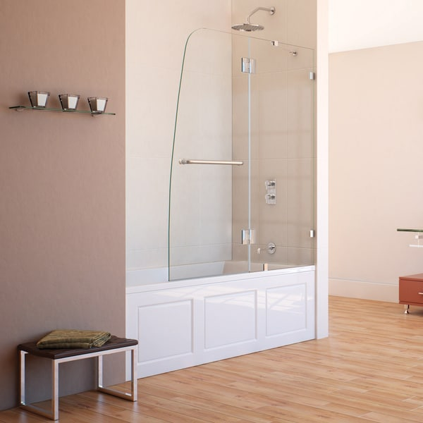 DreamLine AquaLux 48x58-inch Frameless Hinged Tub Door
