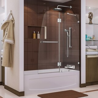 DreamLine Aqua Lux 48 in. Frameless Hinged Tub Door