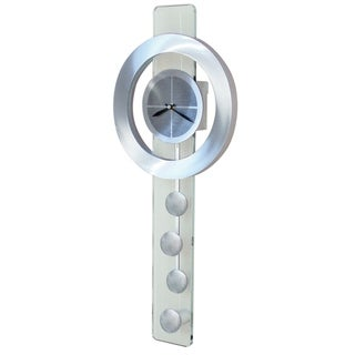 Jon Gilmore Designs 'Juggling Time' Silver Pendulum Wall Clock
