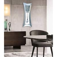 Jon Gilmore Designs 'Time Stretch' Silver Aluminum Clock