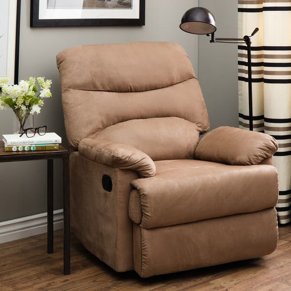 Swell Shop Tucker Tan Recliner Free Shipping Today Overstock Theyellowbook Wood Chair Design Ideas Theyellowbookinfo