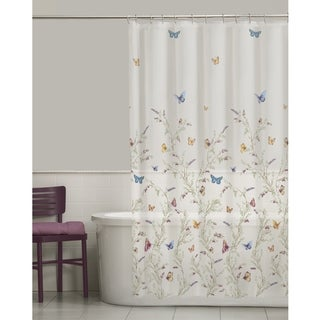 Garden Flight Butterfly PEVA Shower Curtain