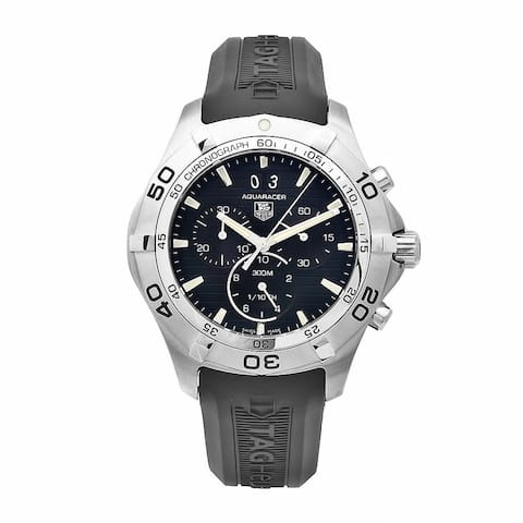 Tag Heuer Men's CAF101E.FT8011 Aquaracer Black Chronograph Dial Watch
