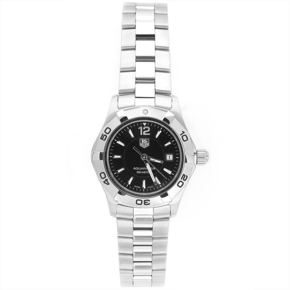 Tag Heuer Women's WAF1410.BA0823 Aquaracer 300M Stainless Steel Black Dial Watch