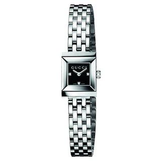 Gucci Women's G-Frame Diamond Accent Black Watch