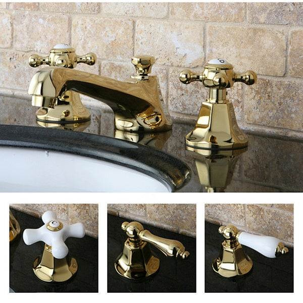 Metropolitan Polished Brass Widespread Bathroom Faucet - Free ...