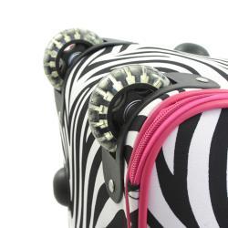 World Traveler 21-inch Zebra Carry-On Rolling Duffel Bag - Thumbnail 2