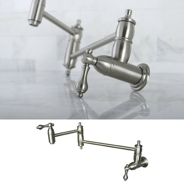 Pot Sink Faucet : Restoration Satin Nickel Pot-filler Kitchen Faucet - Free Shipping ...