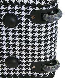 World Traveler 21-inch Houndstooth Carry On Rolling Upright Duffel Bag