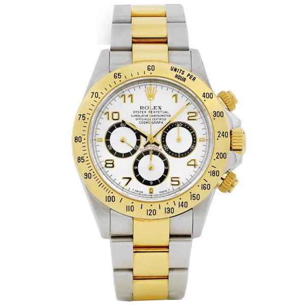 Pre-owned Rolex Men's Daytona Two-tone White Dial Watch