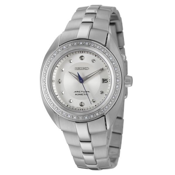Seiko Women's 'Arctura' Stainless Steel Diamond Accent Watch