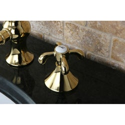 Lava Widespread Polished Brass Bathroom Faucet