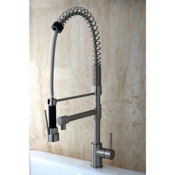 Cusinxel 27-inch Spiral Pulldown Satin Nickel Kitchen Faucet