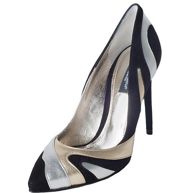 Dolce & Gabbana Women's Metallic Swirl Suede Pumps