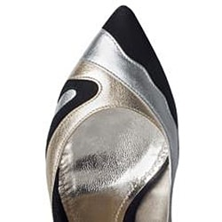 Dolce & Gabbana Women's Metallic Swirl Suede Pumps - Thumbnail 2