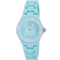 Haurex Italy Women's Make Up Pc Light Blue Dial Watch