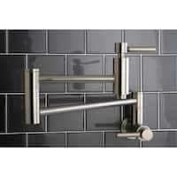 Kingston Brass Concord Satin Nickel Wallmount Pot-Filler Kitchen Faucet