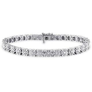 Miadora Sterling Silver 1/2ct TDW Diamond Tennis Bracelet