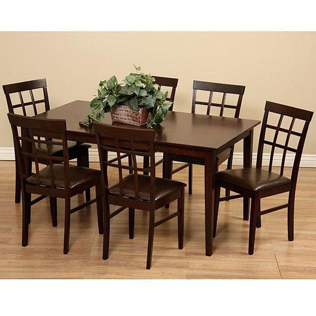 Justin 7-piece Wood Dining Set