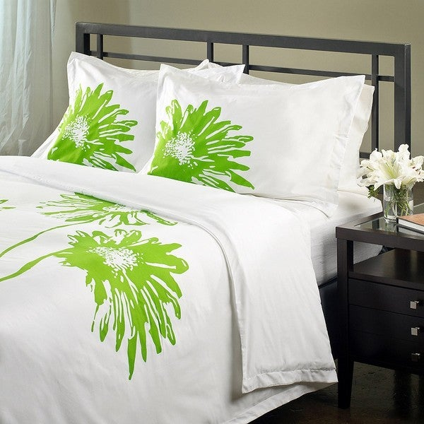 Vibrant Daisy Queen-size Duvet Cover Set