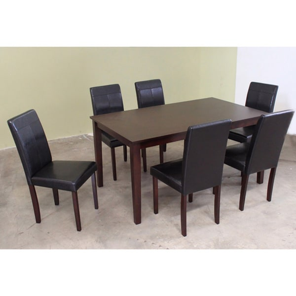 Warehouse of Tiffany Seven-Piece Brown Wooden Dining Furniture Set