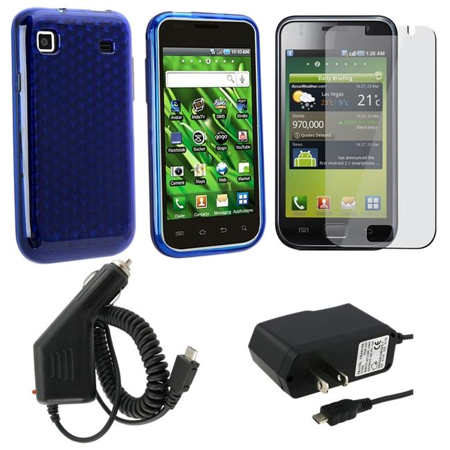4-piece Case/ Screen Protector/ Chargers for Samsung T959 Vibrant
