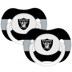 Oakland Raiders Pacifiers (Pack of 2) - Thumbnail 0