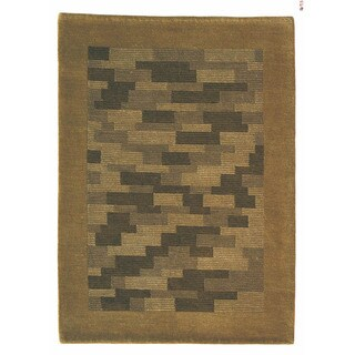 M.A.Trading Hand-knotted Nule Green Wool Rug (5'6 x 7'10)