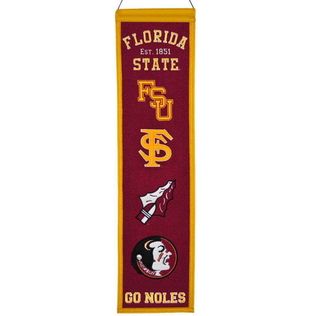 Florida State Seminoles Wool Heritage Banner