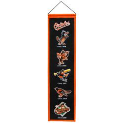 Baltimore Orioles Wool Heritage Banner