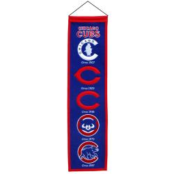 Chicago Cubs Wool Heritage Banner