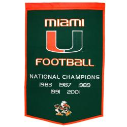 Miami Hurricanes NCAA Dynasty Banner
