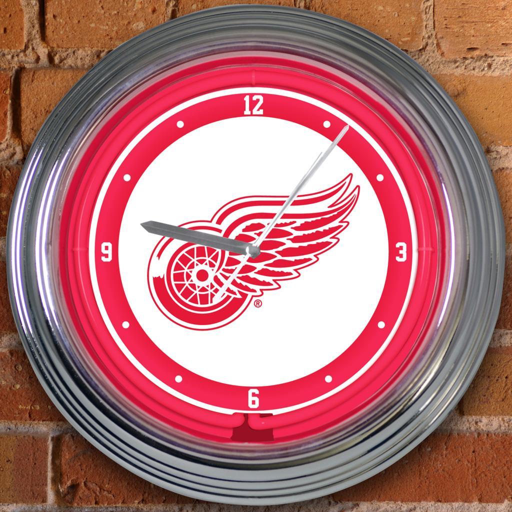 Detroit Red Wings 15-inch Neon Clock